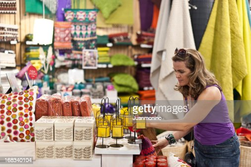 Woman buying a gift