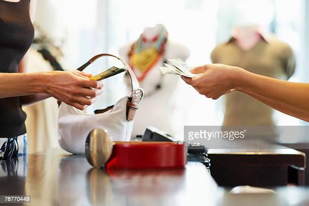 Woman Buying Belt