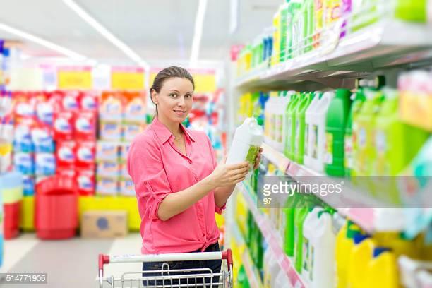 Woman buys washing powder