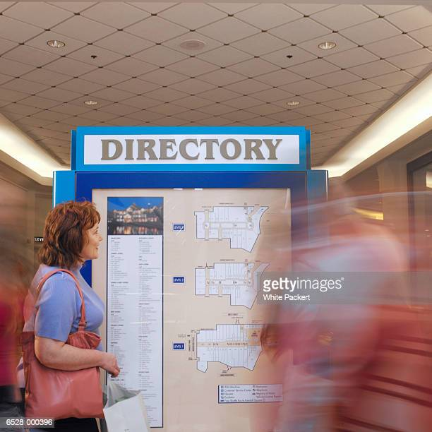Woman by Mall Directory