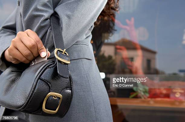 Woman carrying purse