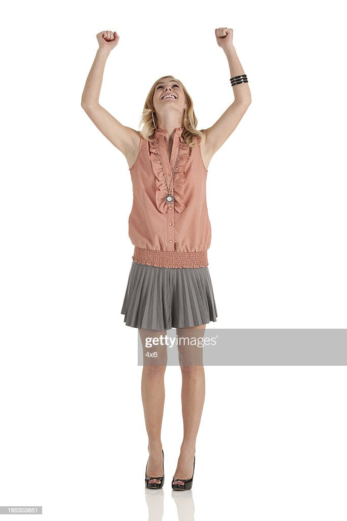 Woman celebrating her success