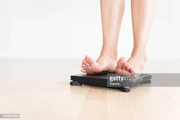 Woman Checking Weight