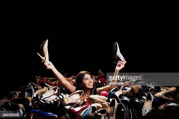 Woman choosing high heels