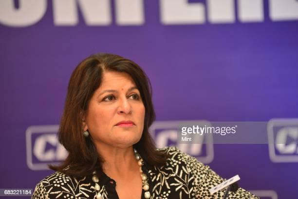Woman CII President Shobhna Kamineni at a press conference in New Delhi