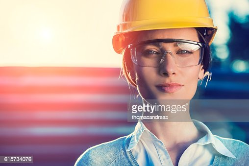 Woman civil engineer or architect : Stock-Foto