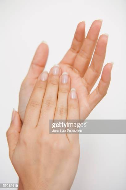 Woman clapping her hands