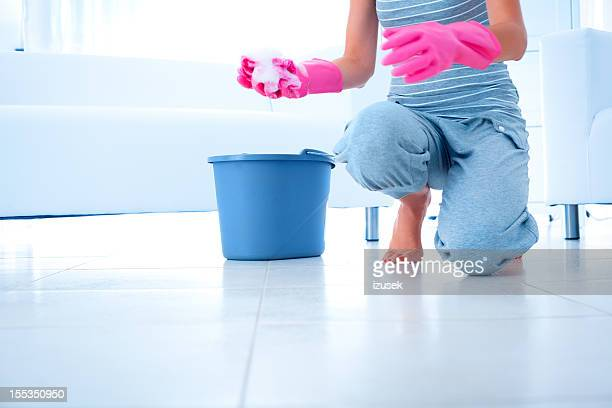 Frau Reinigung Etage