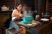 Woman Cooking - Rural Guatemala