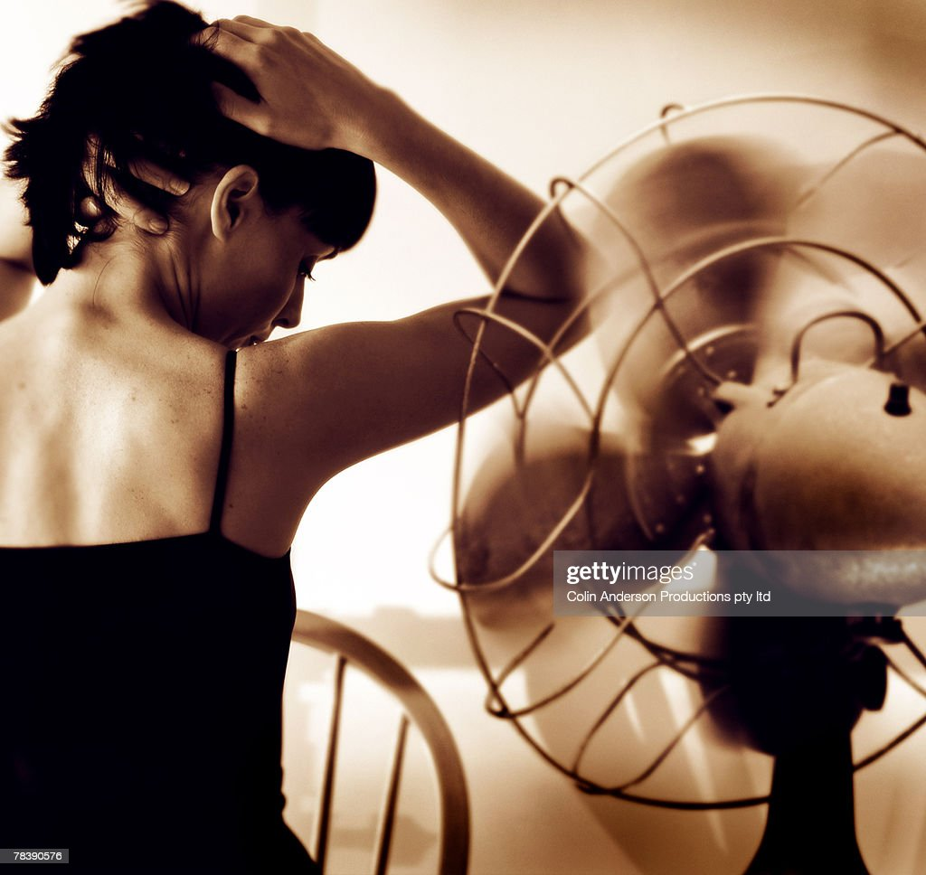 Woman cooling off : Stock Photo