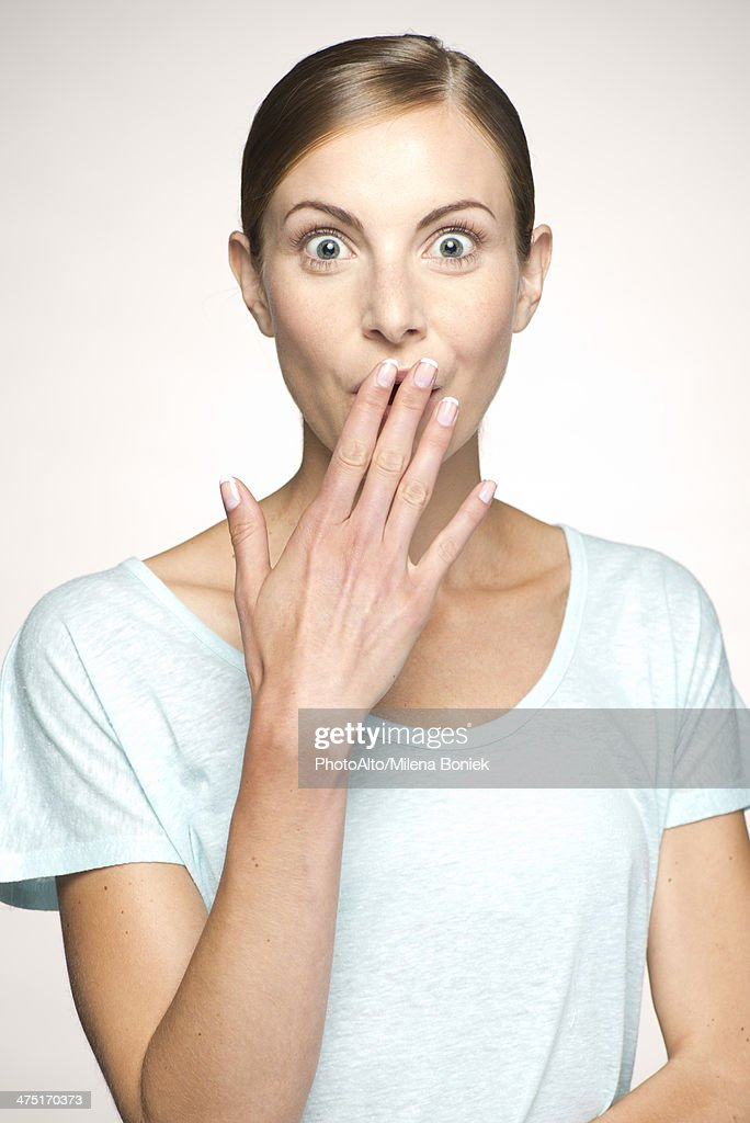 Woman Covering Mouth 27