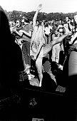 A woman dances at an antiVietnam War demonstration in Golden Gate Park San Francisco California late 1960s