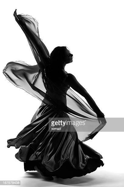 Woman dancing in  fancy dress