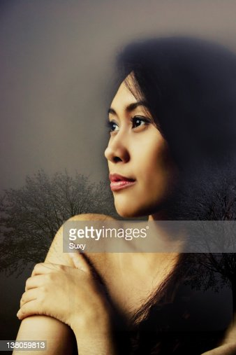 Woman daydreaming : Stock Photo