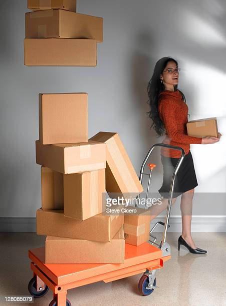 Woman delivering packages