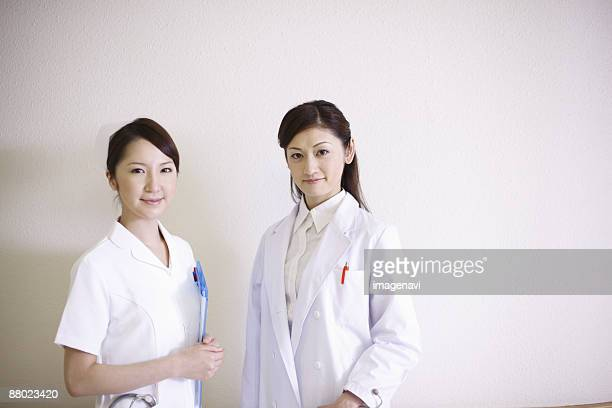 Woman doctor and nurse
