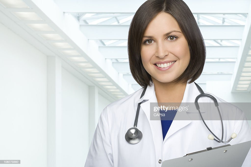 Woman Doctor At The Hospital : Stock Photo