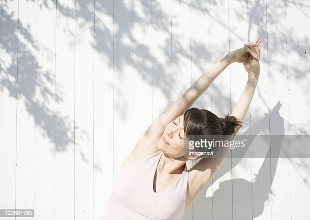 Woman doing a stretching exercise