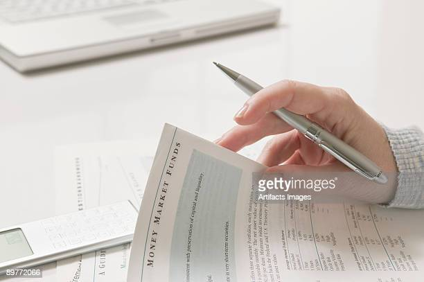 Woman doing financial tax planning
