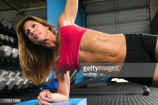 Woman Doing Floor Exercises