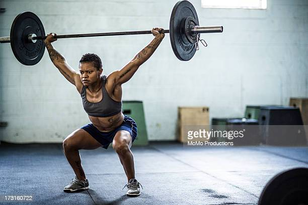 woman doing gym exercise