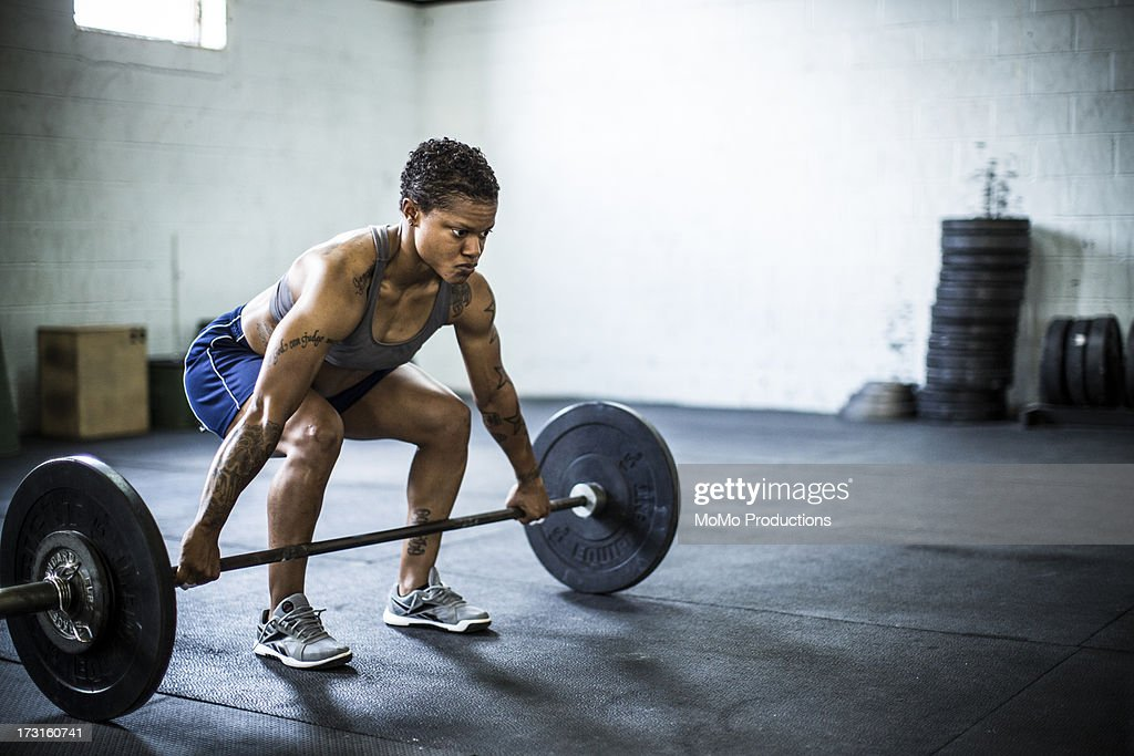woman doing gym/deadlift