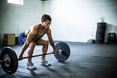 woman doing gym/deadlift