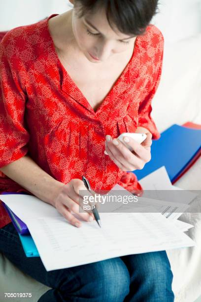 Woman doing paperwork
