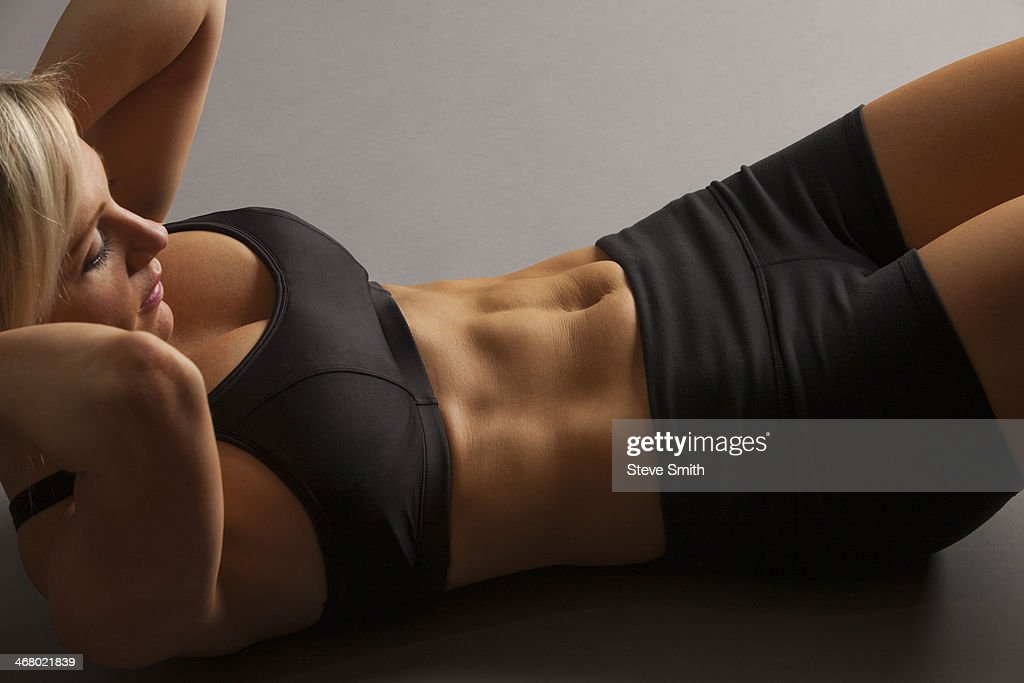 Woman doing situp exercise