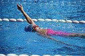 Woman doing the Backstroke