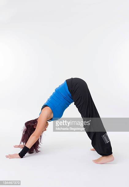 Woman doing yoga excercise, 'dog