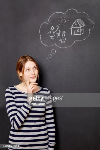 Woman dreaming about her future : Stock Photo