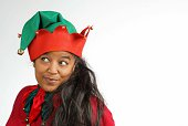 Woman Dressed as an Elf