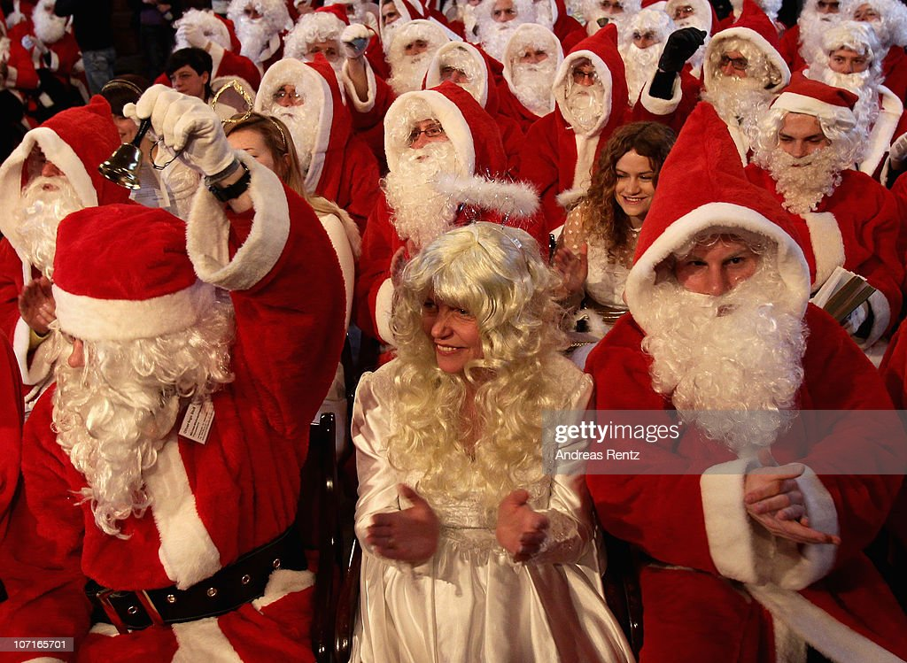 Berlin s students practise being santa getty images