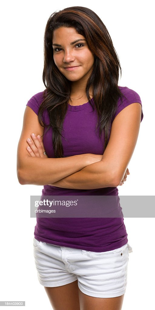 Woman dressed in a purple top smiling at the camera