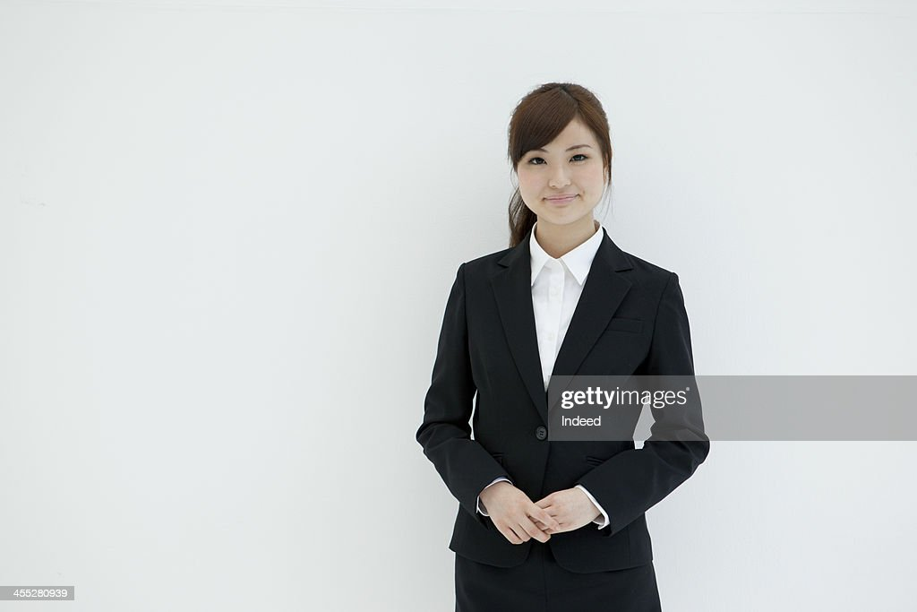 Woman dressed in the suit