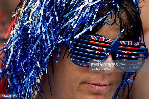 A woman dresses in costume during Australia Day celebrations on January 26 2015 in Murrurundi Australia Australia Day formerly known as Foundation...