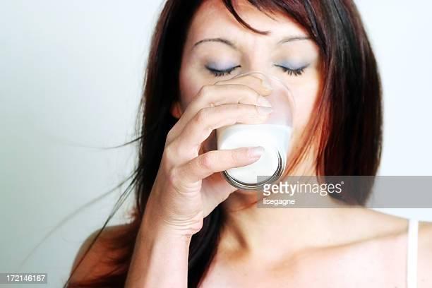 Woman drinking milk II