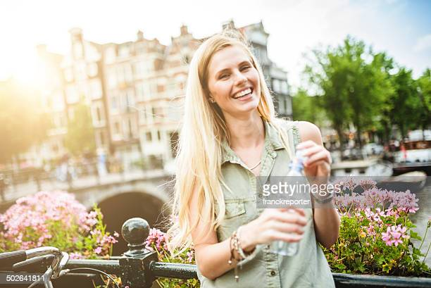 woman  drinking water for refreshment