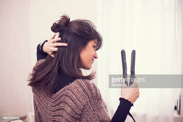 Hair Straightener Stock Photos And Pictures Getty Images