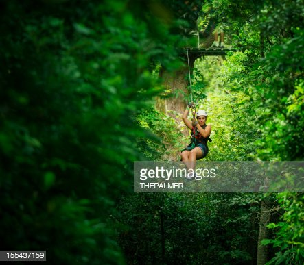 woman during a Canopy Tour in costa rica
