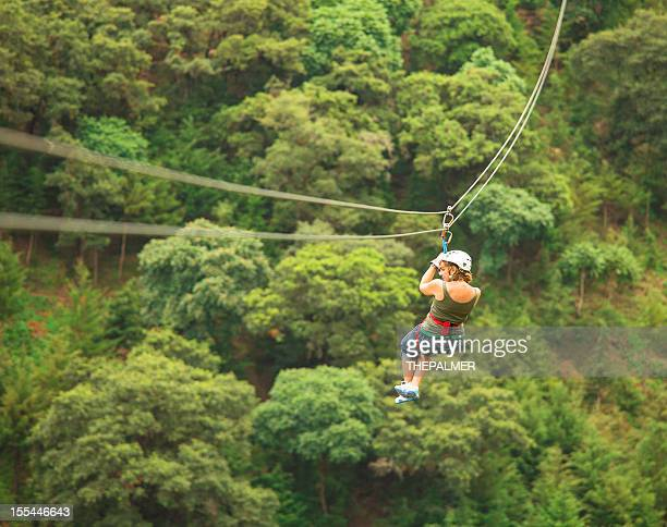 woman during a Canopy Tour in Guatemala