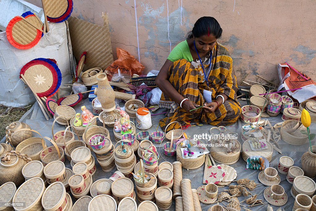 Handicrafts of west bengal getty images for Waste material handicraft