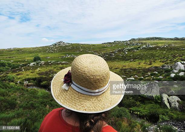 A Woman Enjoy at Mountain in France