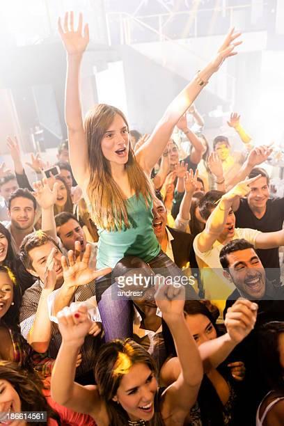Woman enjoying a concert
