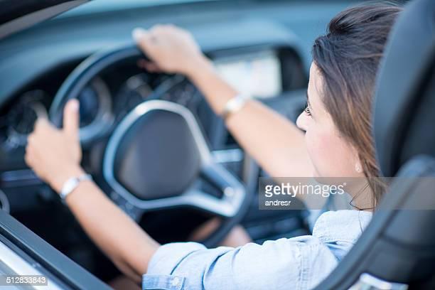 Woman enjoying driving
