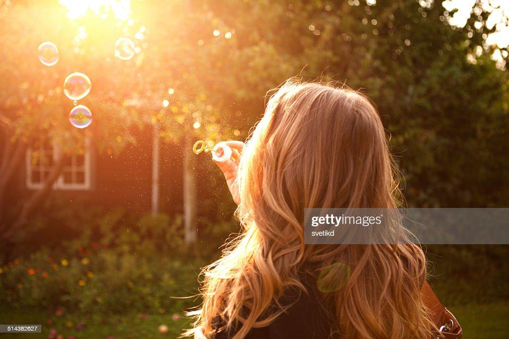 Woman enjoying the sun. : Stock Photo