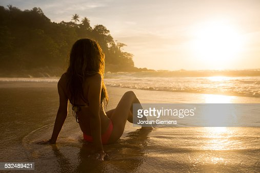 A woman enjoying the sunset