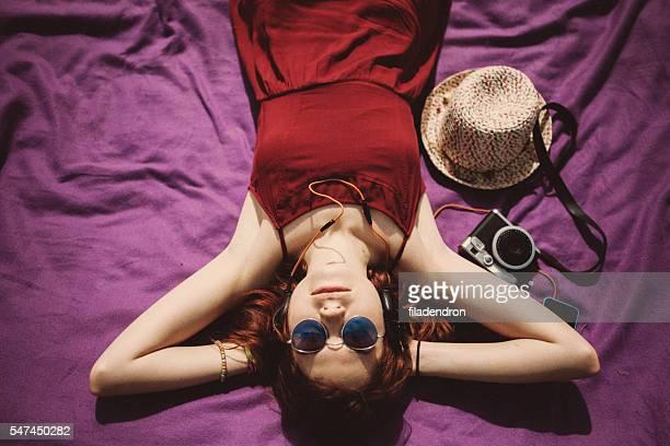 Woman Enjoying The Weather