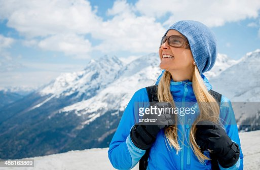 Woman enjoying the winter